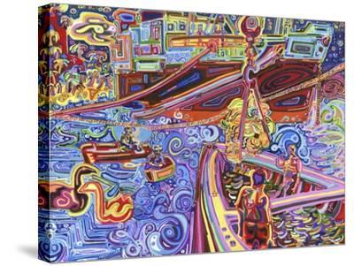 Banana Crane-Josh Byer-Stretched Canvas Print