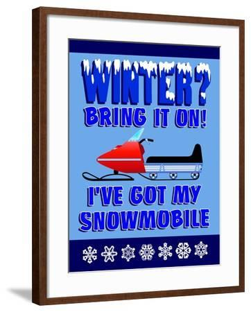 Winter Bring it Snowmobile-Mark Frost-Framed Giclee Print