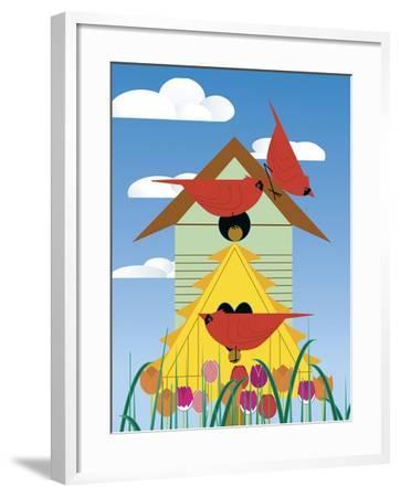 Bird Condo-Marie Sansone-Framed Giclee Print