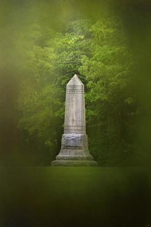 War Monument in Spring-Jai Johnson-Premium Giclee Print