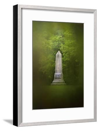 War Monument in Spring-Jai Johnson-Framed Premium Giclee Print