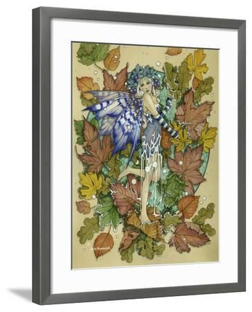 Winter Leaf Fairy-Linda Ravenscroft-Framed Giclee Print