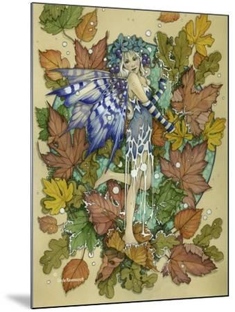 Winter Leaf Fairy-Linda Ravenscroft-Mounted Giclee Print