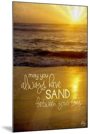 Sand Between Your Toes 2-Kimberly Glover-Mounted Giclee Print