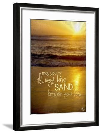 Sand Between Your Toes 2-Kimberly Glover-Framed Giclee Print