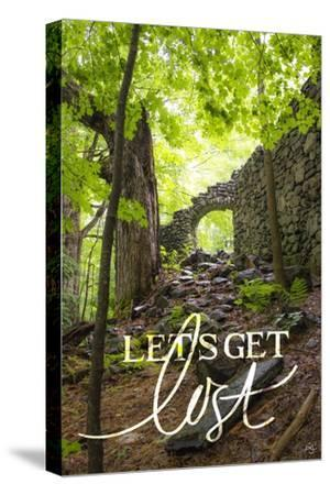 Let's Get Lost-Kimberly Glover-Stretched Canvas Print