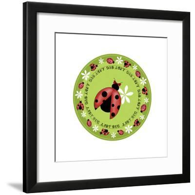 Round Lady Bug-Maria Trad-Framed Giclee Print