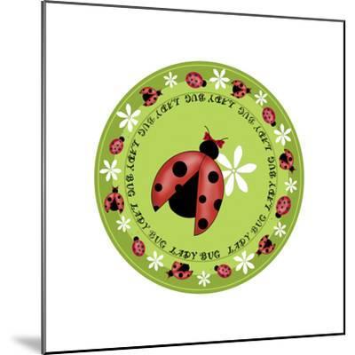 Round Lady Bug-Maria Trad-Mounted Giclee Print
