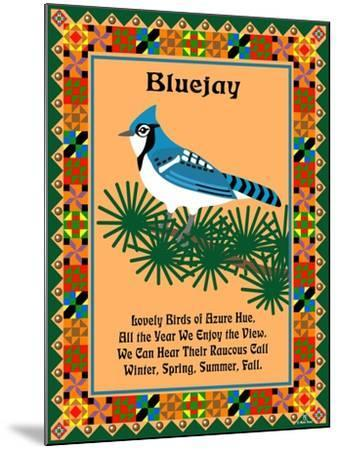 Blue Jay Quilt-Mark Frost-Mounted Giclee Print