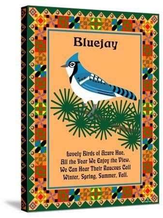 Blue Jay Quilt-Mark Frost-Stretched Canvas Print
