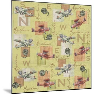 Airplanes-Maria Trad-Mounted Giclee Print