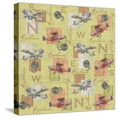 Airplanes-Maria Trad-Stretched Canvas Print