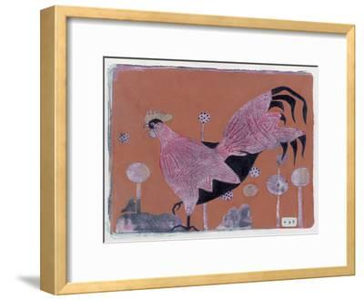 Sci-Fi Purple Rooster 6-Maria Pietri Lalor-Framed Giclee Print