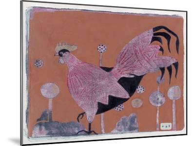 Sci-Fi Purple Rooster 6-Maria Pietri Lalor-Mounted Giclee Print
