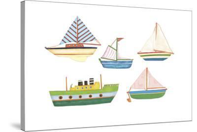 Boats 1-Maria Trad-Stretched Canvas Print