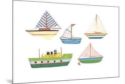 Boats 1-Maria Trad-Mounted Giclee Print