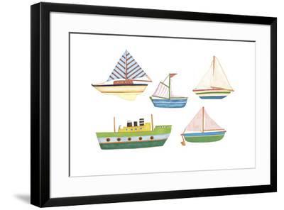 Boats 1-Maria Trad-Framed Giclee Print