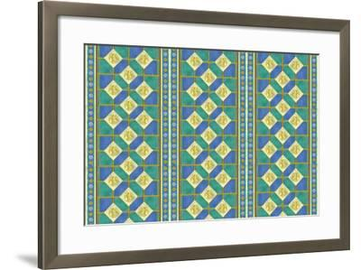 Diamond Pattern-Maria Trad-Framed Giclee Print