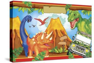 Dinosaur Party 3-Maria Trad-Stretched Canvas Print