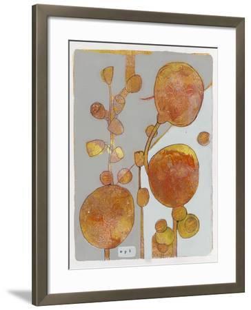 Orange Seed Pods 3-Maria Pietri Lalor-Framed Giclee Print