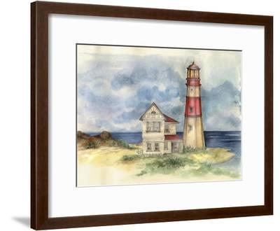 Lighthouse 02-Maria Trad-Framed Giclee Print