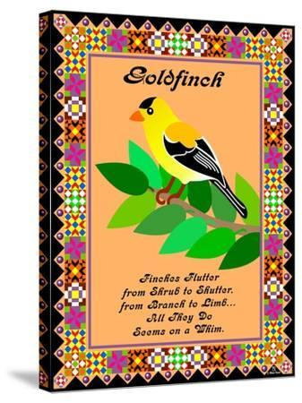 Goldfinch Quilt-Mark Frost-Stretched Canvas Print