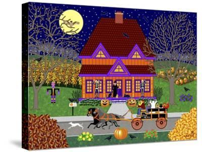 Pumpkin House-Mark Frost-Stretched Canvas Print