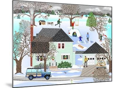 Homestead in Winter-Mark Frost-Mounted Giclee Print