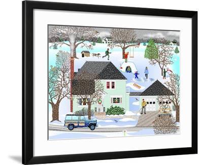 Homestead in Winter-Mark Frost-Framed Giclee Print