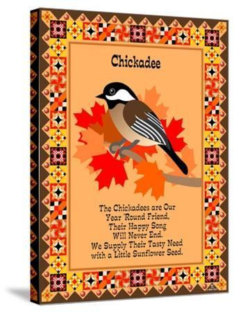 Chicadee Quilt-Mark Frost-Stretched Canvas Print