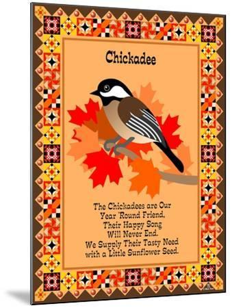 Chicadee Quilt-Mark Frost-Mounted Giclee Print