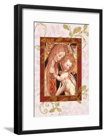jesus and mary in icon style-Maria Trad-Framed Premium Giclee Print