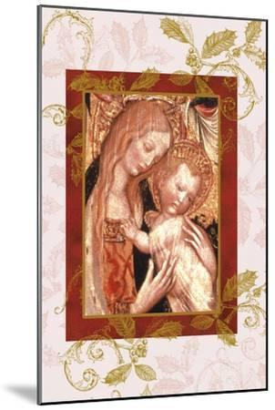 jesus and mary in icon style-Maria Trad-Mounted Premium Giclee Print