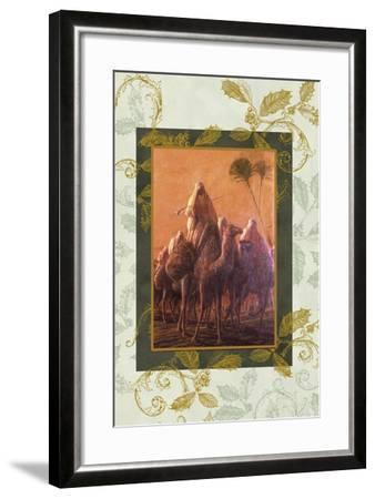 wise men coming to see jesus on camels-Maria Trad-Framed Giclee Print