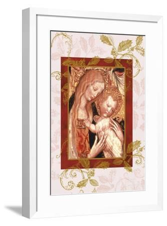 jesus and mary in icon style-Maria Trad-Framed Giclee Print