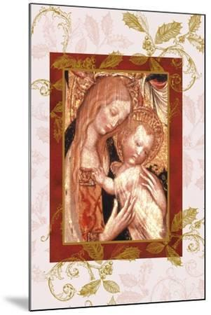 jesus and mary in icon style-Maria Trad-Mounted Giclee Print