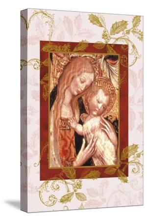jesus and mary in icon style-Maria Trad-Stretched Canvas Print