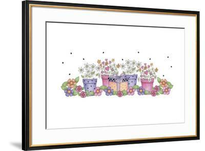 Pink and Purple Border 3-Maria Trad-Framed Giclee Print