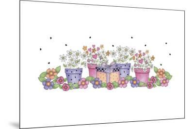 Pink and Purple Border 3-Maria Trad-Mounted Giclee Print