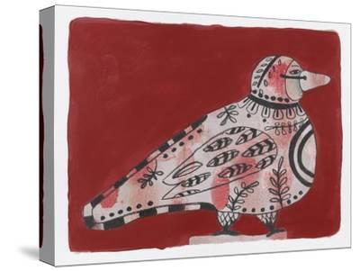 Mardi Gras Bird 19-Maria Pietri Lalor-Stretched Canvas Print