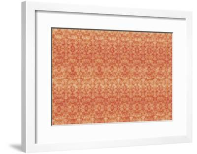 Orange Pattern-Maria Trad-Framed Giclee Print