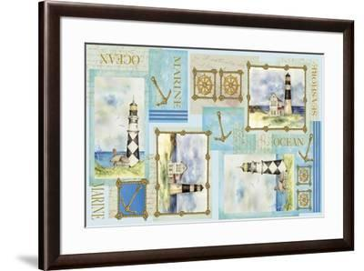 Light House Border-Maria Trad-Framed Giclee Print