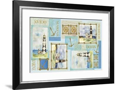 Light House Border-Maria Trad-Framed Giclee Print