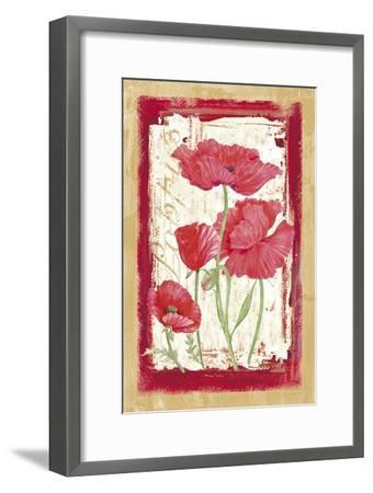 Poppies-Maria Trad-Framed Giclee Print