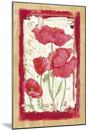 Poppies-Maria Trad-Mounted Giclee Print
