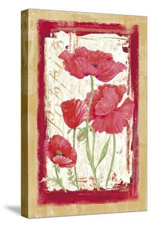 Poppies-Maria Trad-Stretched Canvas Print