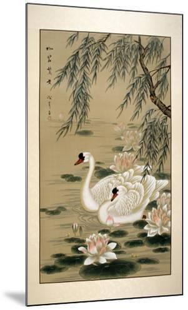 Swan Swim-Marcus Jules-Mounted Giclee Print