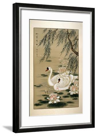 Swan Swim-Marcus Jules-Framed Giclee Print