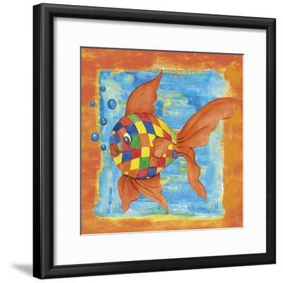 Fishes Colors 03-Maria Trad-Framed Giclee Print