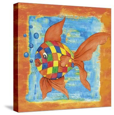 Fishes Colors 03-Maria Trad-Stretched Canvas Print